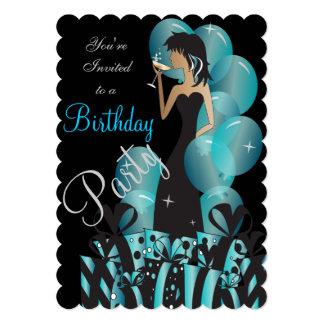 "Birthday or Bachelorette Party Diva Princess Girl 5"" X 7"" Invitation Card"