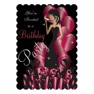"Birthday or Bachelorette Party Diva Princess Girl 5"" X 7"" Invitation Card"