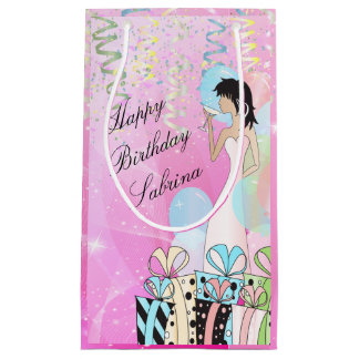 Birthday or Bachelorette Party Diva Princess Girl Small Gift Bag