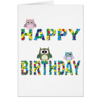 Birthday Owls Card