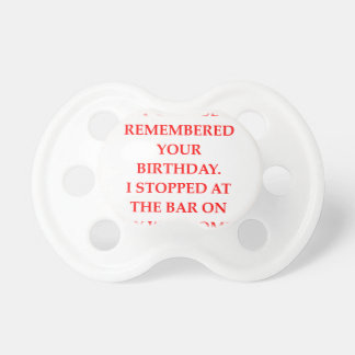 birthday pacifier