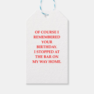 birthday pack of gift tags