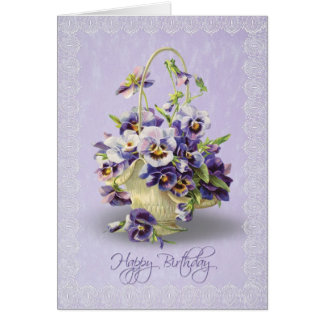 Birthday Pansies Card