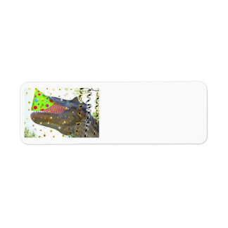 Birthday Party Animal Dinosaur Return Address Labels
