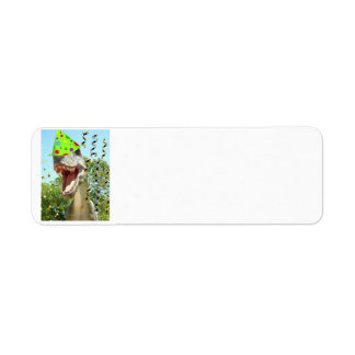 Birthday Party Animal Dinosaur Return Address Label