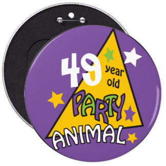 Birthday Party Animal | DIY Age 6 Inch Round Button