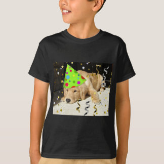Birthday Party Animal Golden Retriever T-Shirt