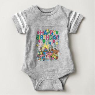 Birthday Party Animals Baby Bodysuit