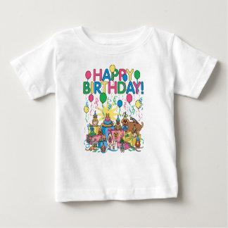 Birthday Party Animals Baby T-Shirt