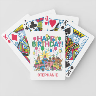 Birthday Party Animals Bicycle Playing Cards