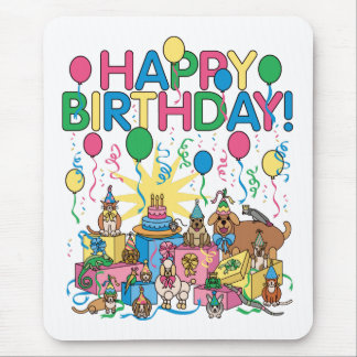 Birthday Party Animals Mouse Pad