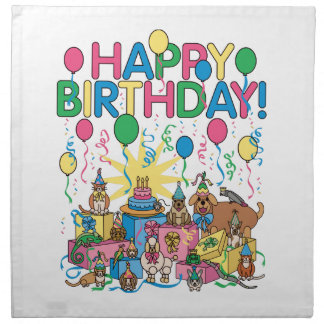 Birthday Party Animals Napkin