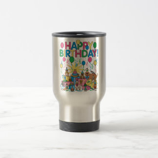 Birthday Party Animals Travel Mug