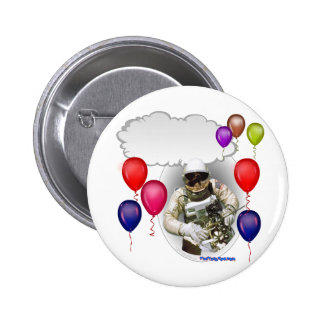 Birthday Party Astronaut 2 Inch Round Button