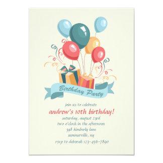 Birthday Party Balloons Invitation
