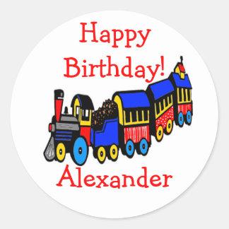 Birthday Party | Choo-Choo Train Classic Round Sticker