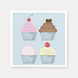 Birthday Party Cupcake Napkins Paper Napkin