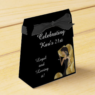 Birthday Party Diva Princess Girl Favor Box