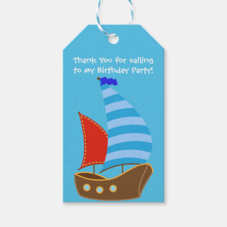 Birthday Party Favor or Gift Tag- Nautical Party Gift Tags