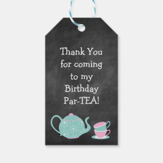 Birthday Party Favor or Gift Tag- Par-TEA Gift Tags