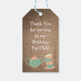 Birthday Party Favor or Gift Tag- Par-TEA Pack Of Gift Tags