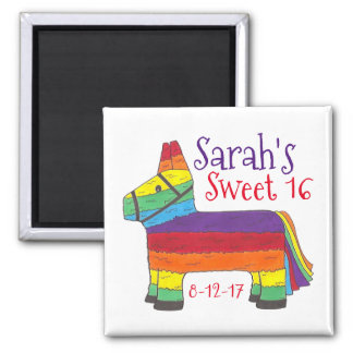 Birthday Party Favor Rainbow Donkey Animal Piñata Magnet