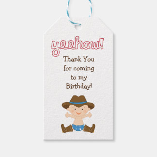 Birthday Party Favour or Gift Tag- Cowboy Pack Of Gift Tags