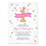 "Birthday Party   First Birthday Princess 5"" X 7"" Invitation Card"