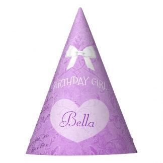 Birthday Party Hat Birthday Girl Purple Bow