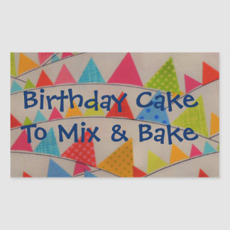 Birthday Party Hats Cake Mix Label