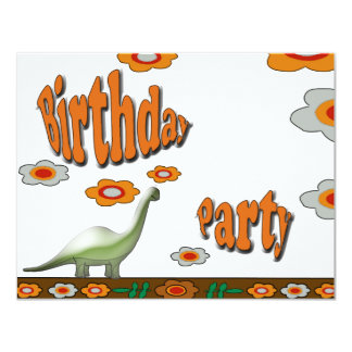 Birthday Party Personalized Announcement