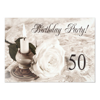 Birthday party invitation 50 years old