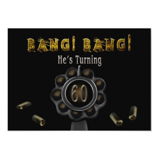 BIRTHDAY PARTY INVITATION - 60TH - BANG BANG!