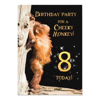 Birthday party invitation 8, with orangutan