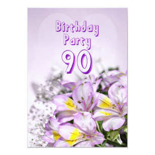 Birthday Party Invitation 90 Years Old
