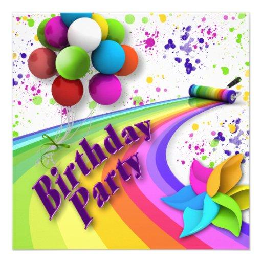Birthday Party Invitation - Children - Uni-sex Invite