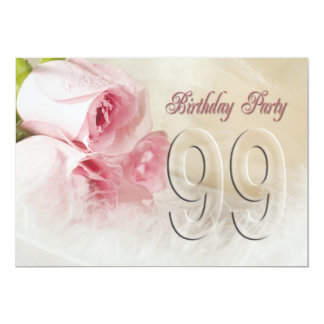 Birthday party invitation for 99 years