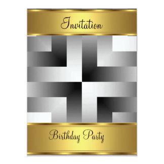Birthday Party Invitation Gold Birthday Party