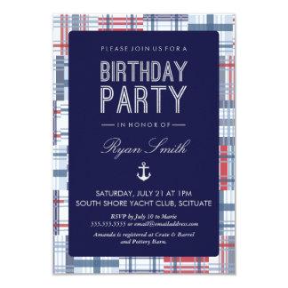 Birthday Party Invitation - Nautical, Summer