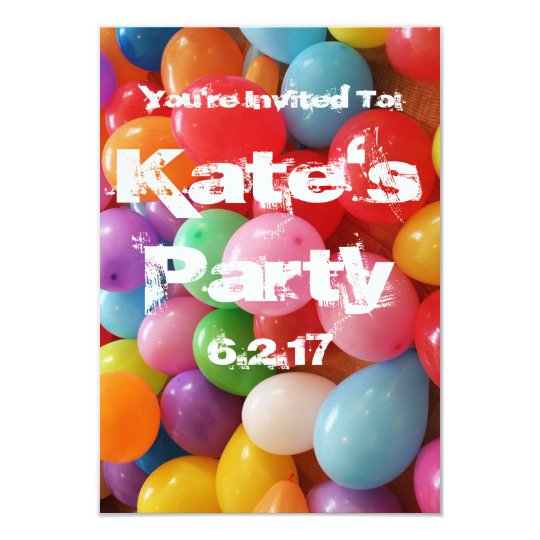 Birthday Party Invitation Personalize Customize