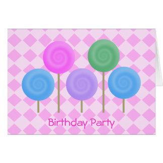 Birthday Party Invitation Pink