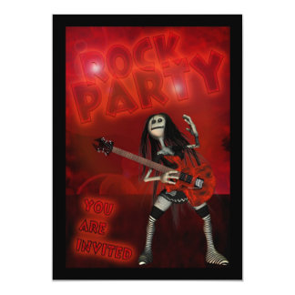 Birthday Party Invitation To A Rock Party