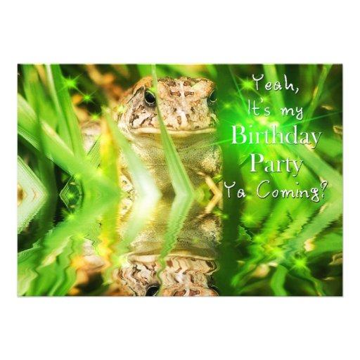 Birthday Party - Invitation - Ya Coming? Card