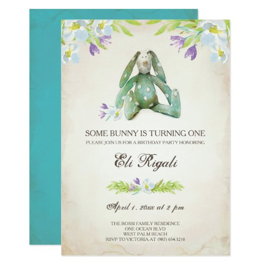 Birthday Party Invite ~ Bunny Invitation