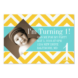 Birthday Party Invite   Turning  chevyel