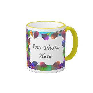 Birthday Party Life 2-Photo Frame Ringer Coffee Mug