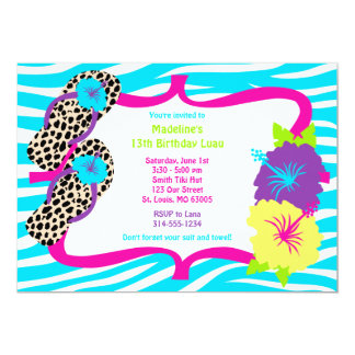 Birthday Party Luau Invitation