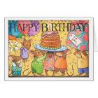 Birthday party mice card