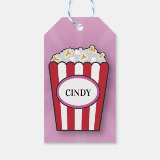 Birthday Party Movie Popcorn Film Thank You Tags