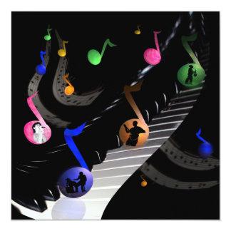 Birthday Party Music Customizable Invitation